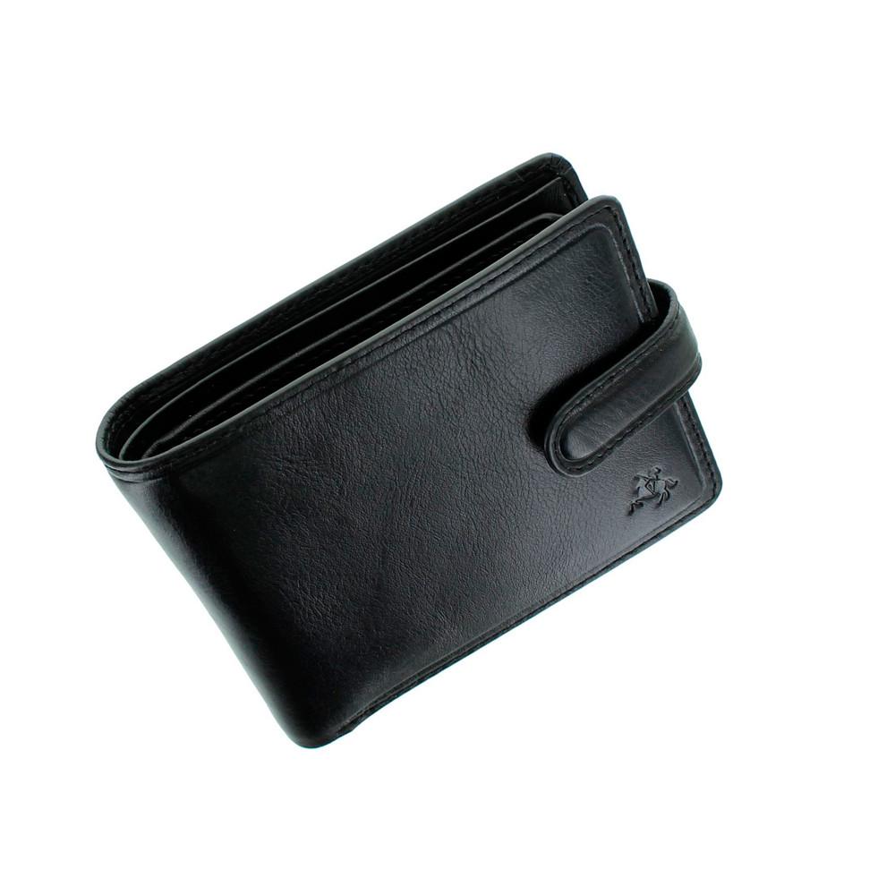 Мужской кожаный кошелек Visconti TSC47 с защитой RFID - Riccardo (black)