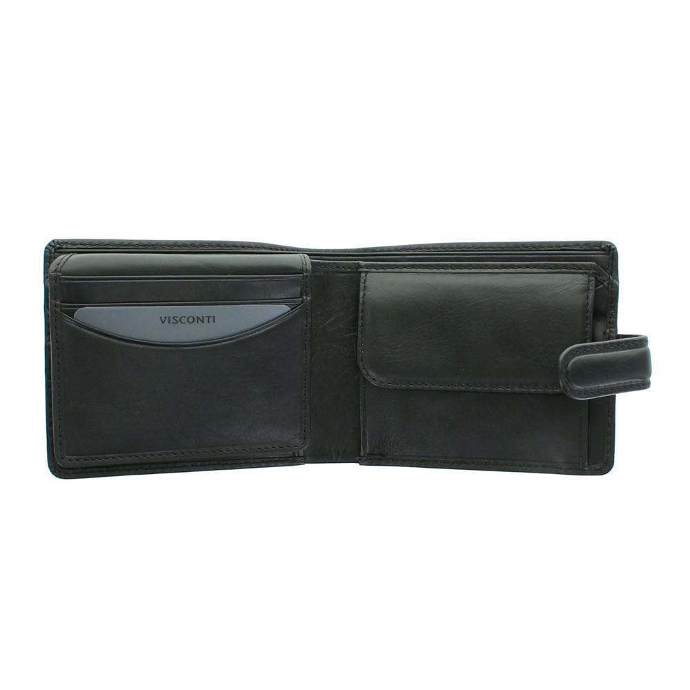 Мужской кошелек Visconti TSC48 с защитой RFID - Filipo (black)