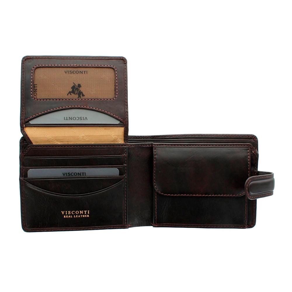 Мужской кожаный кошелек Visconti TSC48 с защитой RFID - Filipo (brown)