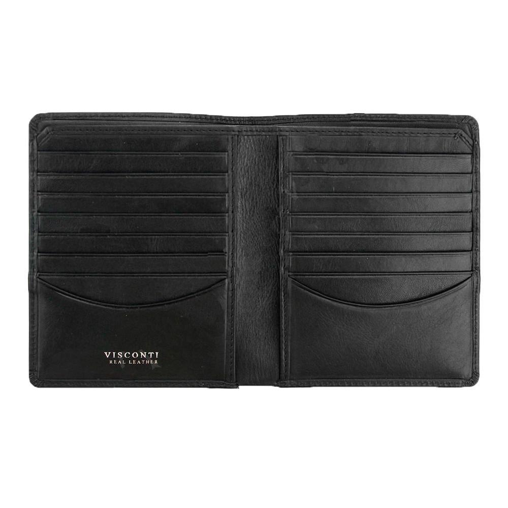 Мужской кожаный кошелек Visconti TSC49 с RFID Matteo (Black)