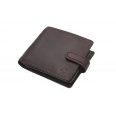 Мужской кожаный кошелек c монетницей Visconti TSC42 с RFID - Arezzo (Brown)