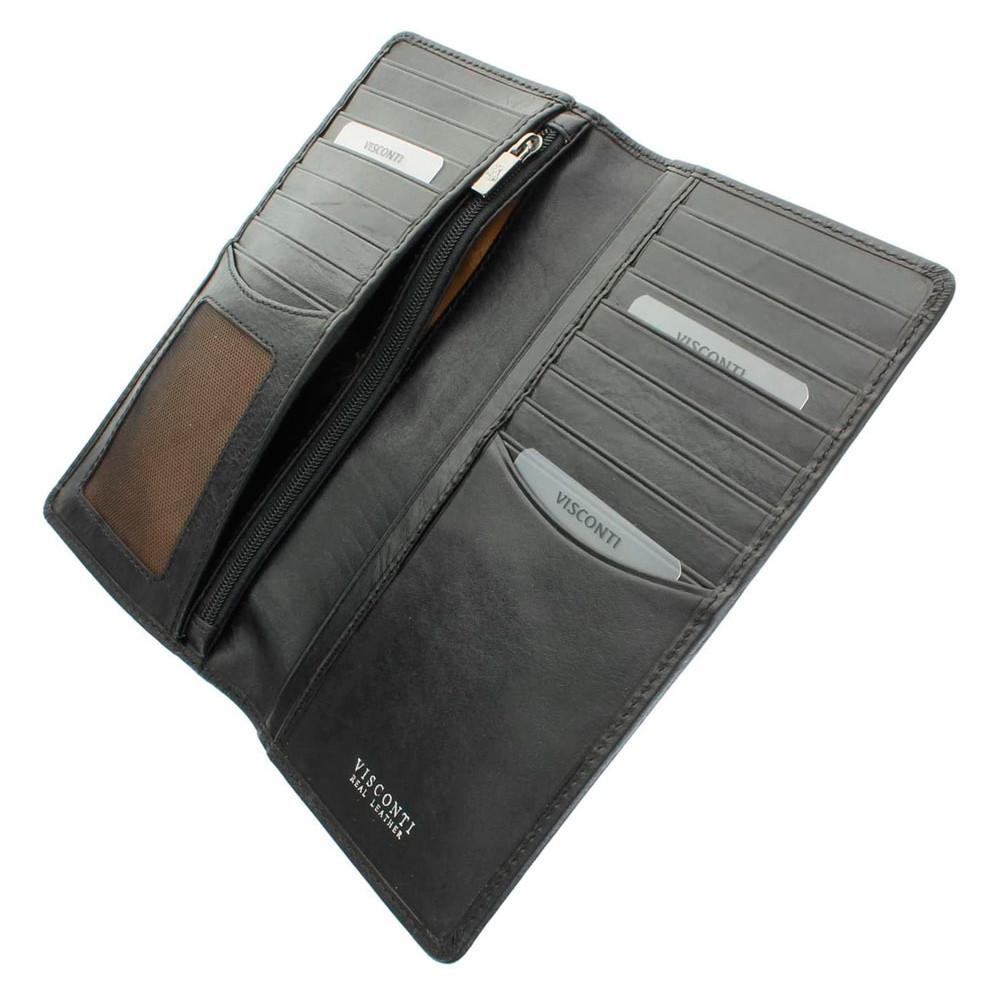 Мужской кожаный купюрник Visconti TSC45 с RFID - Carrara (Black)