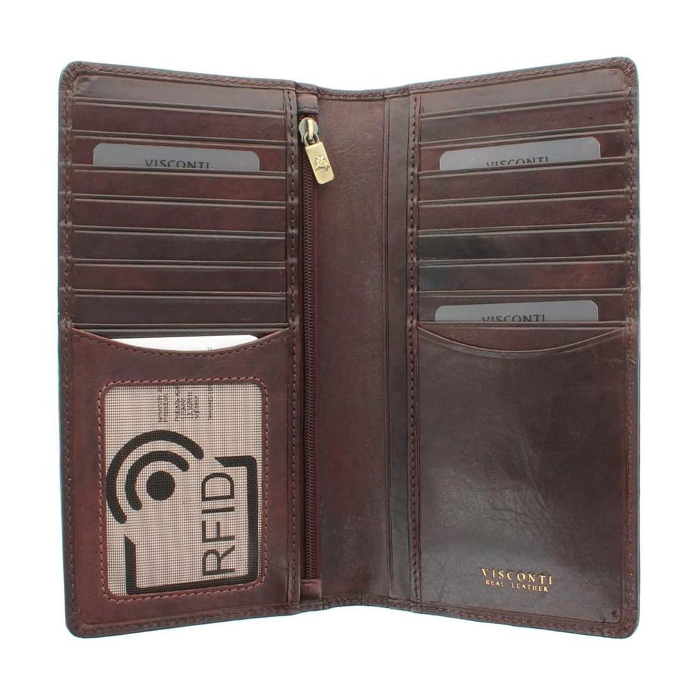 Мужской купюрник Visconti TSC45 с RFID - Carrara (Brown)