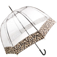 Женский зонт Fulton Birdcage-2 Luxe L866 Natural Leopard (Леопард)