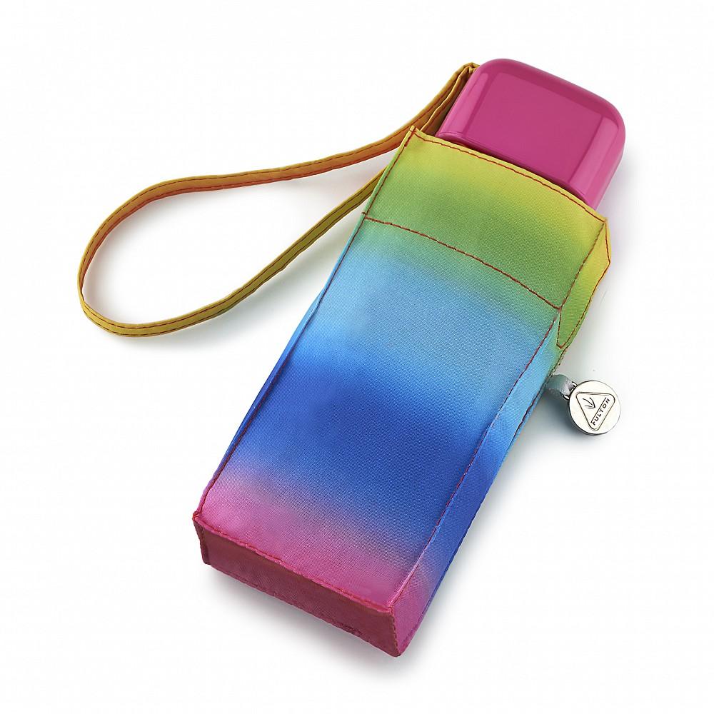 Женский мини (карманный) зонт Fulton L501 Tiny-2 Rainbow (Радуга)