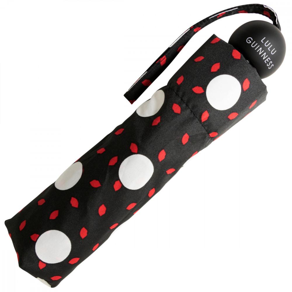 Женский дизайнерский зонт Lulu Guinness by Fulton Minilite-2 L869 Polka Lips (Горошек)