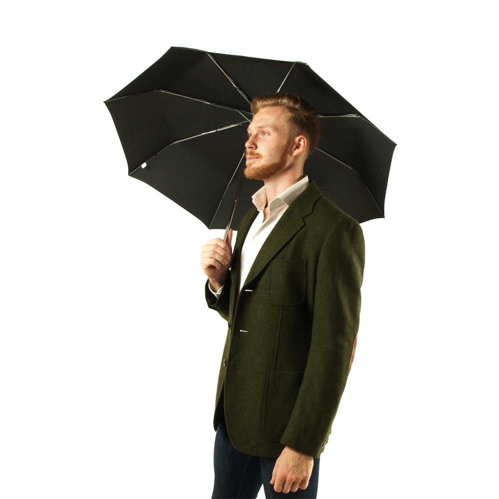 Зонт унисекс Fulton Stowaway Deluxe-1 - L449 - Black (Черный)