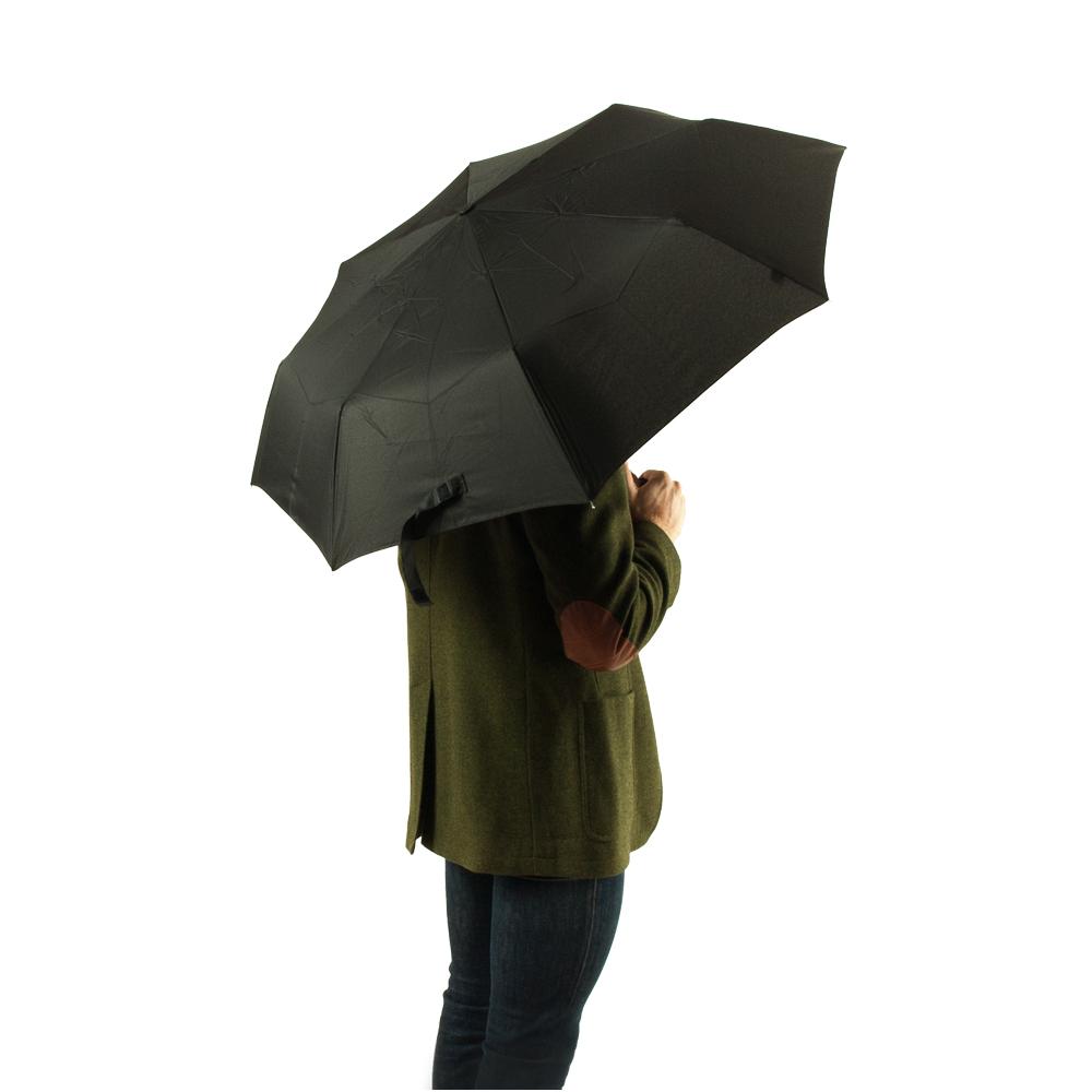 Мужской механический зонт Fulton Hackney-2 G868 Charcoal Check (Темно-серая клетка)