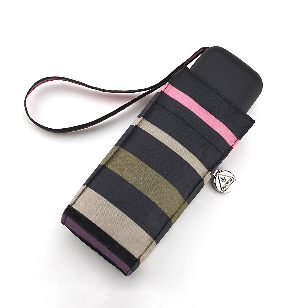 Женский мини зонт Fulton Tiny-2 L501 Banded Stripe (Полоски)