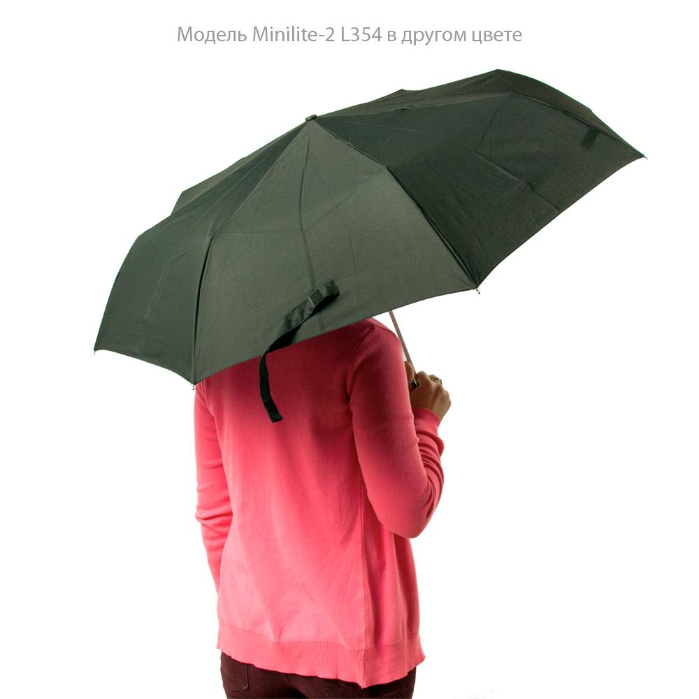 Женский механический зонт Fulton Minilite-2 L354 Sketched Bouquet (Цветочный эскиз)