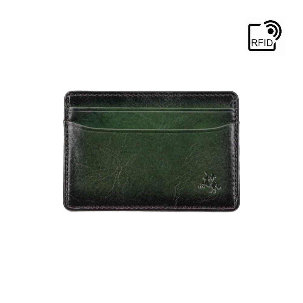 Кожаный картхолдер Visconti AT54 Evan (Burnish Green)