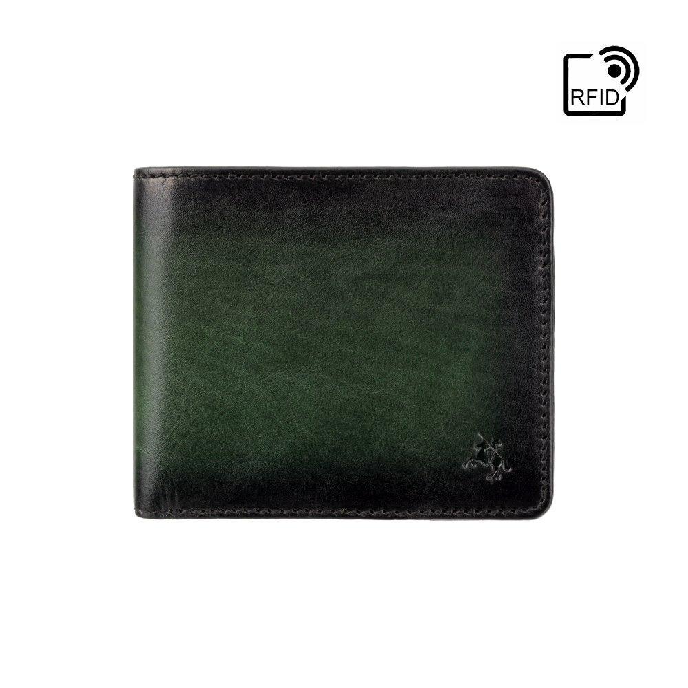 Кошелек мужской Visconti AT58 Milo c RFID (Burnish Green)