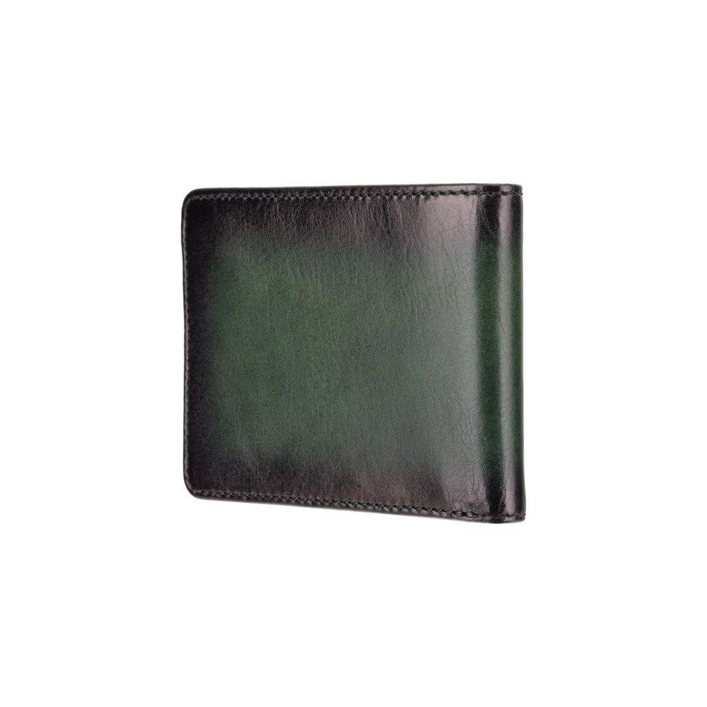 Мужской кожаный кошелек с монетницей Visconti AT63 Roland c RFID (Burnish Green)